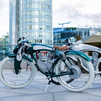 Munro 2.0 Shanghai Two Wheel Cafe Racer Electric Bike, Electric Motor Bicycle, 50 Km H Baterai E Bike Electric Tricycles