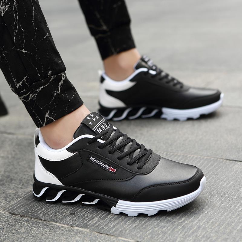 Дешевые Популярные мужские легкие водонепроницаемые кроссовки, Уличная Повседневная обувь на заказ, кроссовки на плоской подошве, мужские модные кроссовки