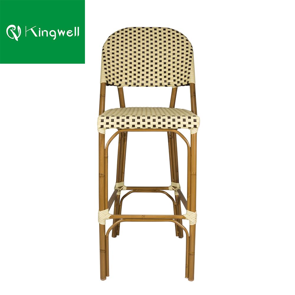 Используется в ресторанах и бистро, ротанговая барная мебель, уличный барный стул