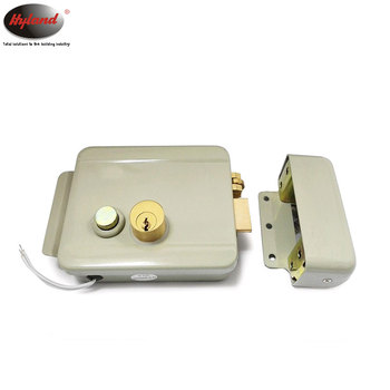 Electric rim lock, deadbolt Security entrance door lock, Hyland OEM CE 1073DR Outdoor 12V electric gate lock.
