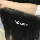 Virgin Hair Hd Lace Factory Price Virgin Human Hair Real Swiss Transparent 4x4 13x6 Hd Film Lace Frontal