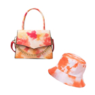 Hats 2021 Luxury PU Leather Bag Messenger And Sandals Set Fashion Fashion Matching Tie-dye Bucket Hats And Crossbody Purses Sets