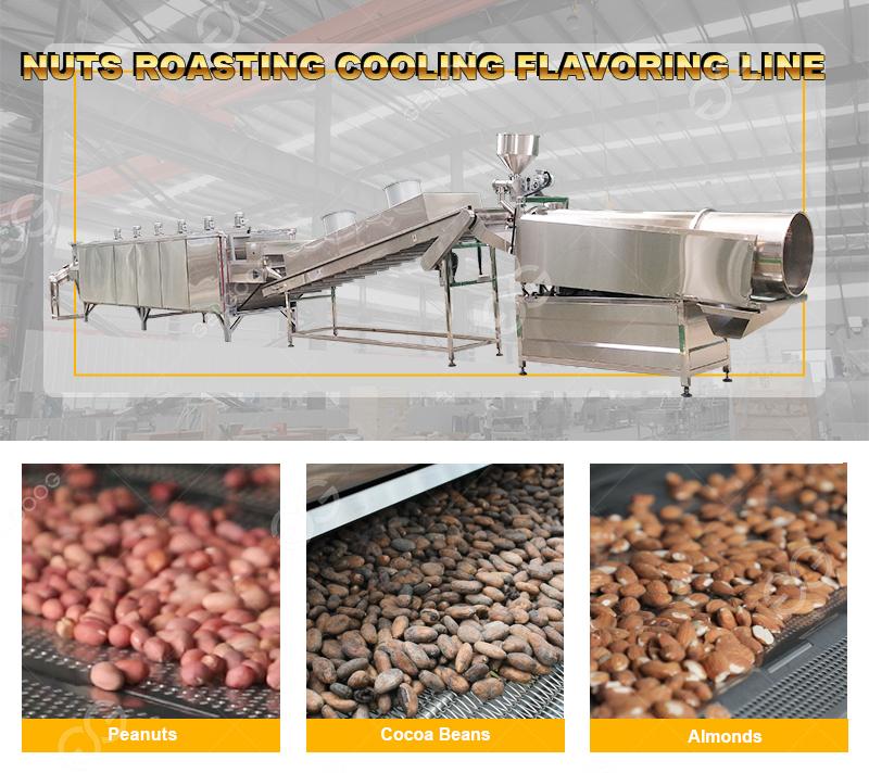 Automatic Nuts Roasting Flaovring Machine