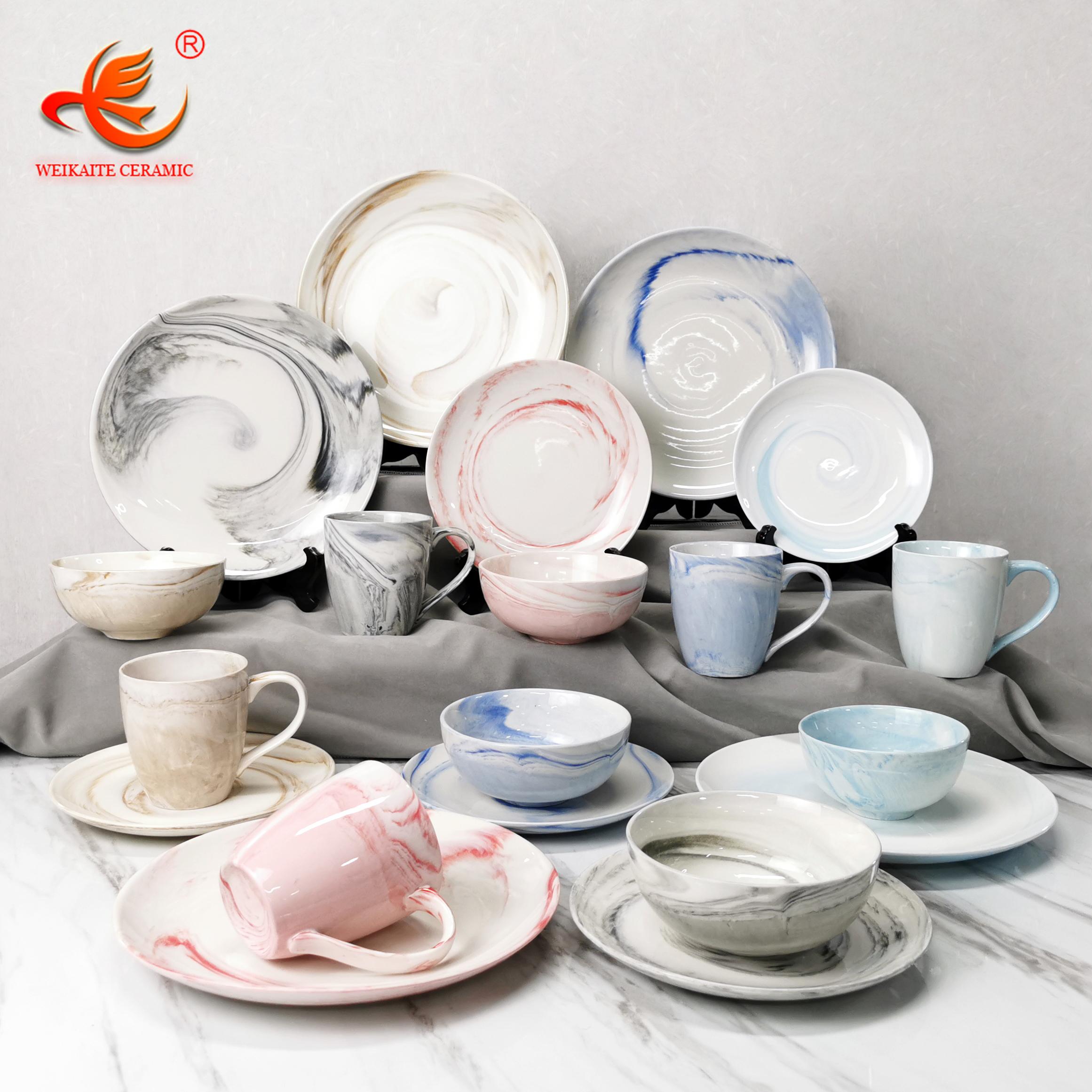 Tableau service caviano 12tlg porcelaine rectangulaire blanc décor pour 6 Personnes Vaisselle