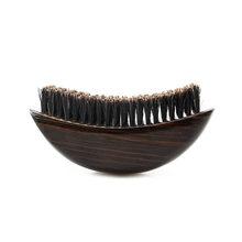 Щетина, волнистые волосы, щетка для бороды, гребень для волос с деревянной ручкой, большая изогнутая щетка для мужчин, натуральная щетина, гр...(Китай)