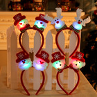 F Headband Exquisite Reindeer Santa Claus Snowman Headgear Christmas LED Headband Fashionable And Cute Holiday Headband
