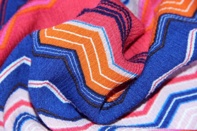 2021 оригинальный дизайн, дружественная дышащая полосатая вискозная трикотажная ткань для платья