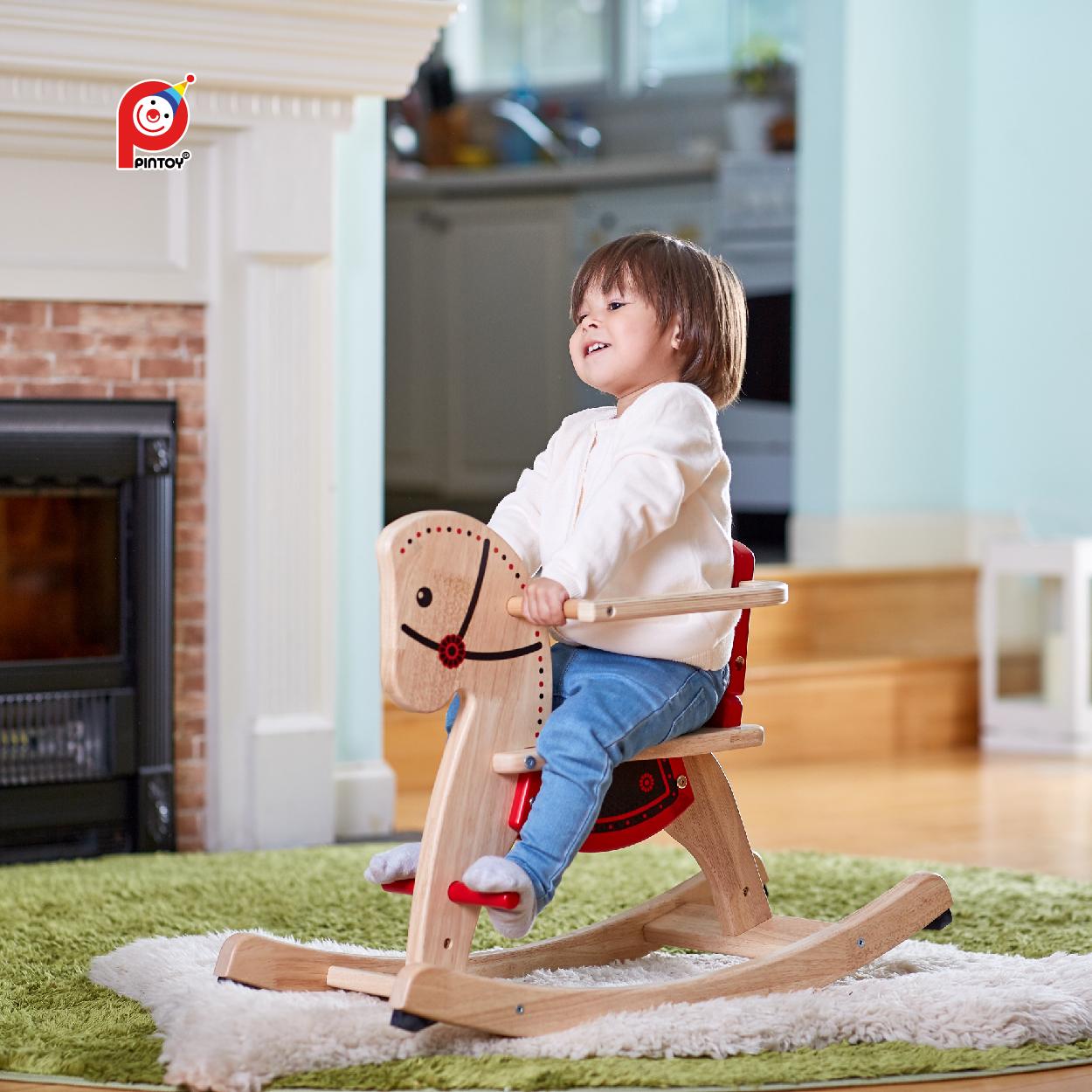 Pintoy, детская игрушка, деревянная лошадка-качалка, детская лошадка-качалка