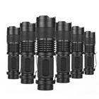 Mini LED Torch 7W 1200LM CREE XPE Q5 LED Flashlight Adjustable Focus Zoom Flash Light Lamp