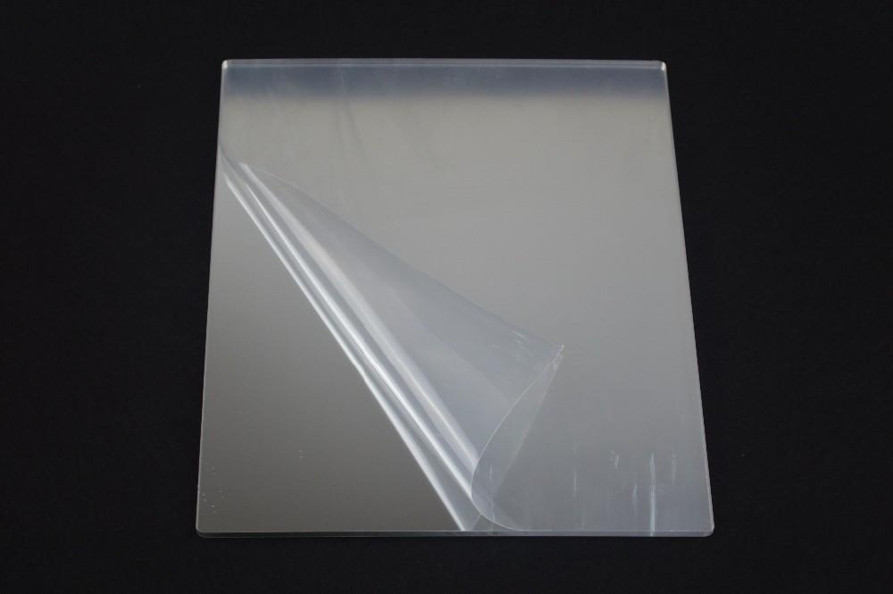 Индивидуальный размер, высокоотражающие Пластиковые акриловые зеркальные листы с наклейкой