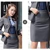 Women Gray suits(blazer+Skirt)