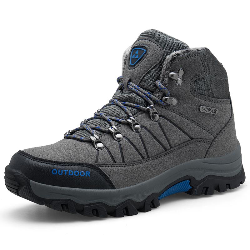 Зимние морозостойкие теплые материал ботинки для пеших прогулок; Мужские зимние ботинки кроссовки