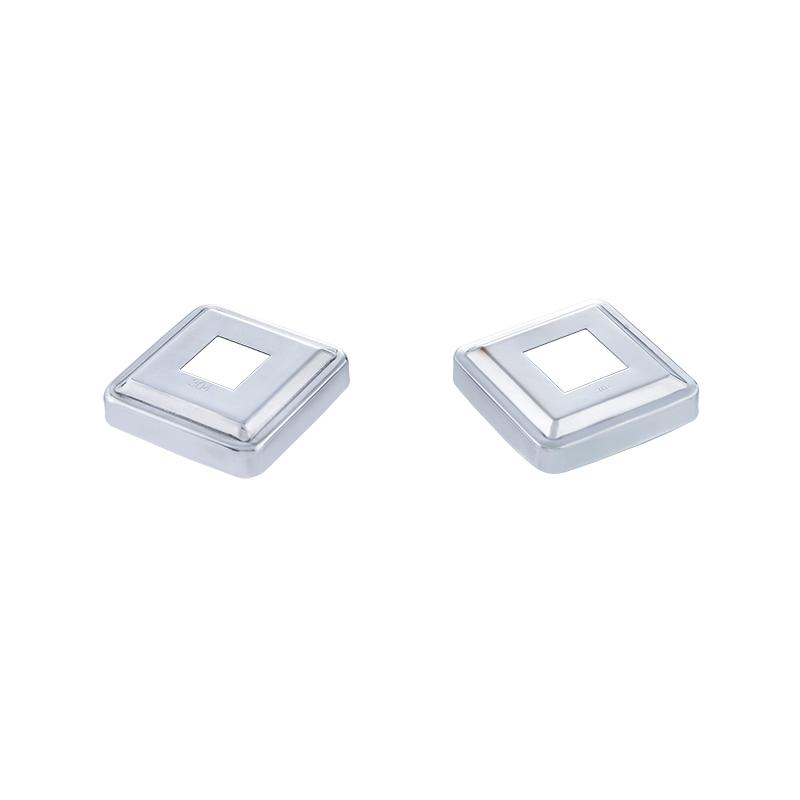 Modern Design304 stainless steel square tube handrail post cover plate for glass railing system