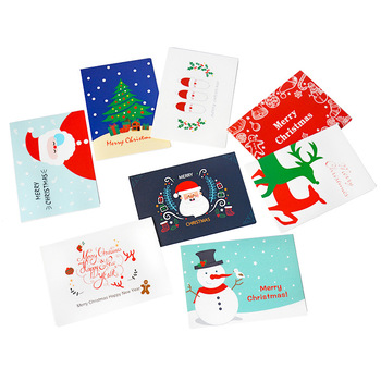 Beautiful Merry Christmas greeting post card DIY Christmas greeting post card