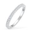 01;Platinum;half diamond ring