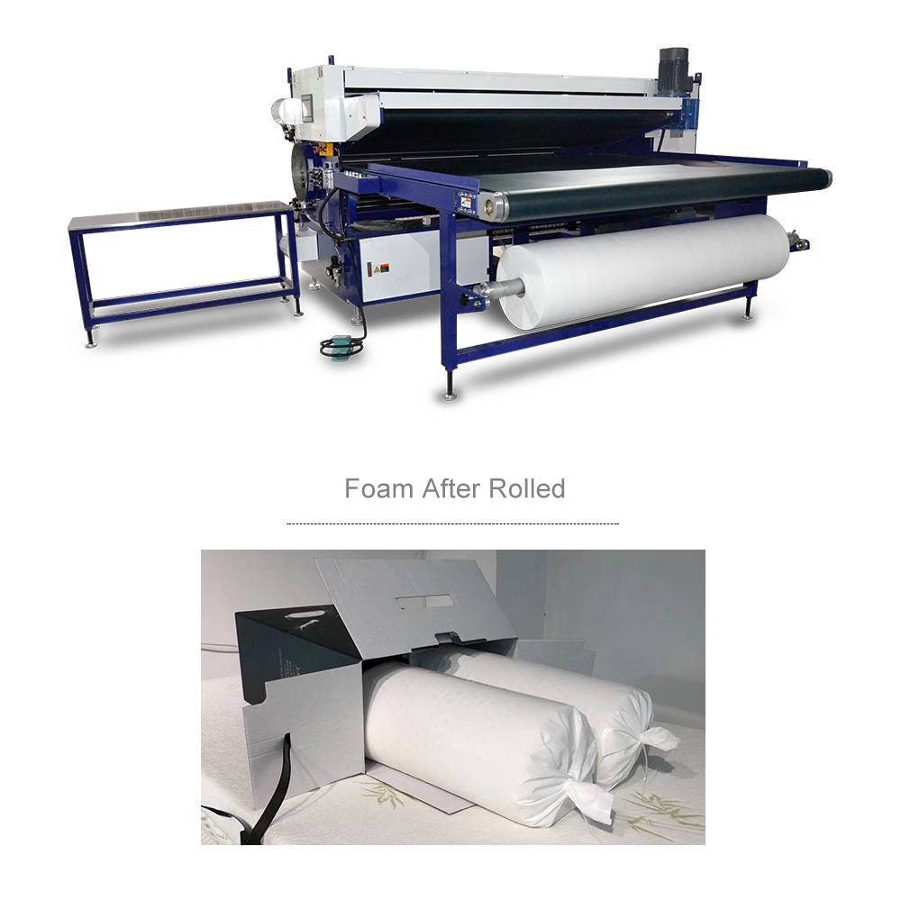 Китай, Фошань, заводская цена, дешевая автоматическая машина для сжатия матрасов queen или king из латексной пены/упаковочная машина для рулонов матрасов
