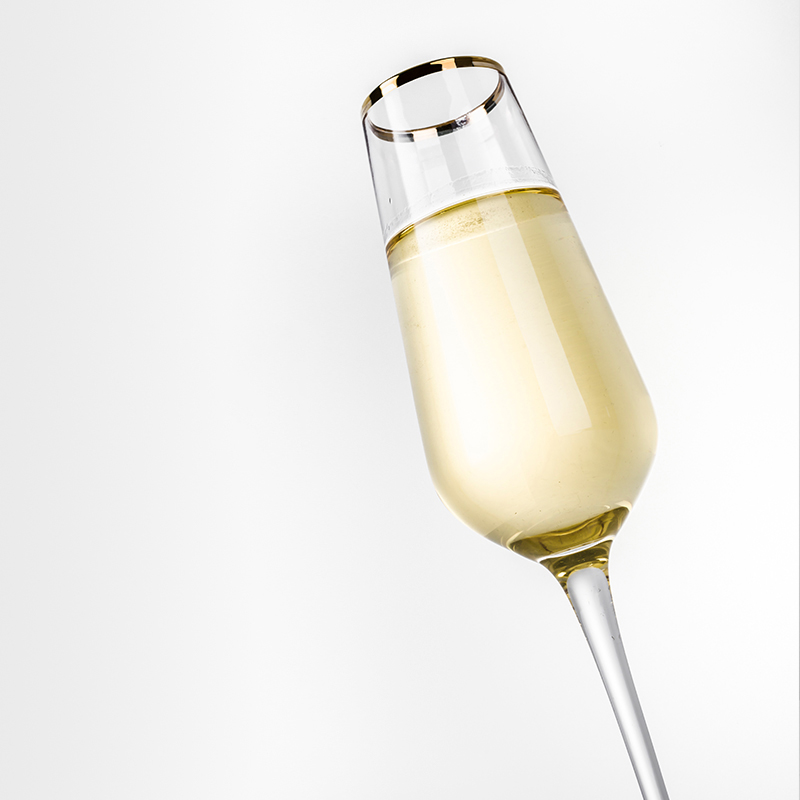 Wholesale Customize 2019 New Crystal Champagne Flute With Gold Rim for Wedding Accept Personality Logo