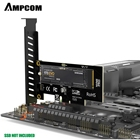 Pci Express AMPCOM M.2 NVME SSD To PCI Express 4.0 X4 Adapter For 2230-2280 M2 SSD