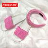 С шлепанцы без задника с открытыми пальцами, комплект с надписью «розовый»,