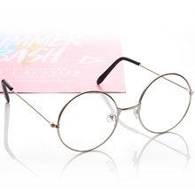 Круглые очки, оправа для женщин и мужчин, ретро очки для близорукости, оптические оправы, металлические прозрачные линзы, черные, серебряные...(Китай)