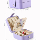 Necklace Storage Box Storage Box Travel Portable Small Jewelry Organizer Box PU Leather Jewelry Storage Box For Earrings Ring Necklace