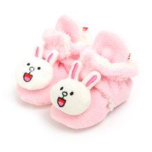 Новинка зимы 2019, стильные носки для новорожденных, обувь для мальчиков и девочек, пинетки с мультипликационным принтом «Пух» для малышей, ко...(China)