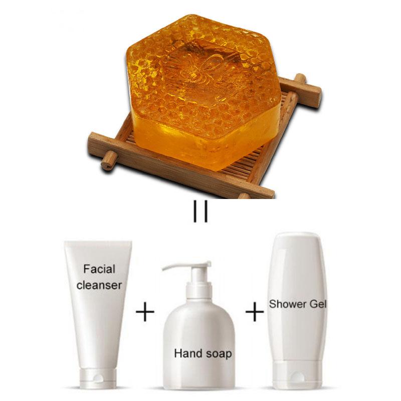 Private Label Natural Honey Soap Lightening Moisturizing Jabon Face Care Collagen Soap Handmade Milk Soap Savon Eclaircissant
