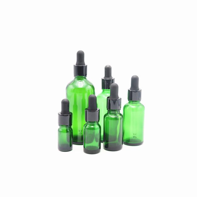 10ml / 30ml Cosmetic Dropper Bottle green blue Glass Essential Oil Bottle Dropper 30 ml Glass Dropper Bottle