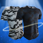 T-shirts China Professional Manufacture Pure Color Casual Gym T-shirts Custom
