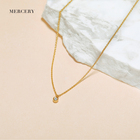 Solid Gold Gold New Necklace Designs Mercery Brand Logo 14K Solid Gold Pendant Ladies Necklaces Luxury Love Jewlery Necklace Made With Real Gold White Diamond
