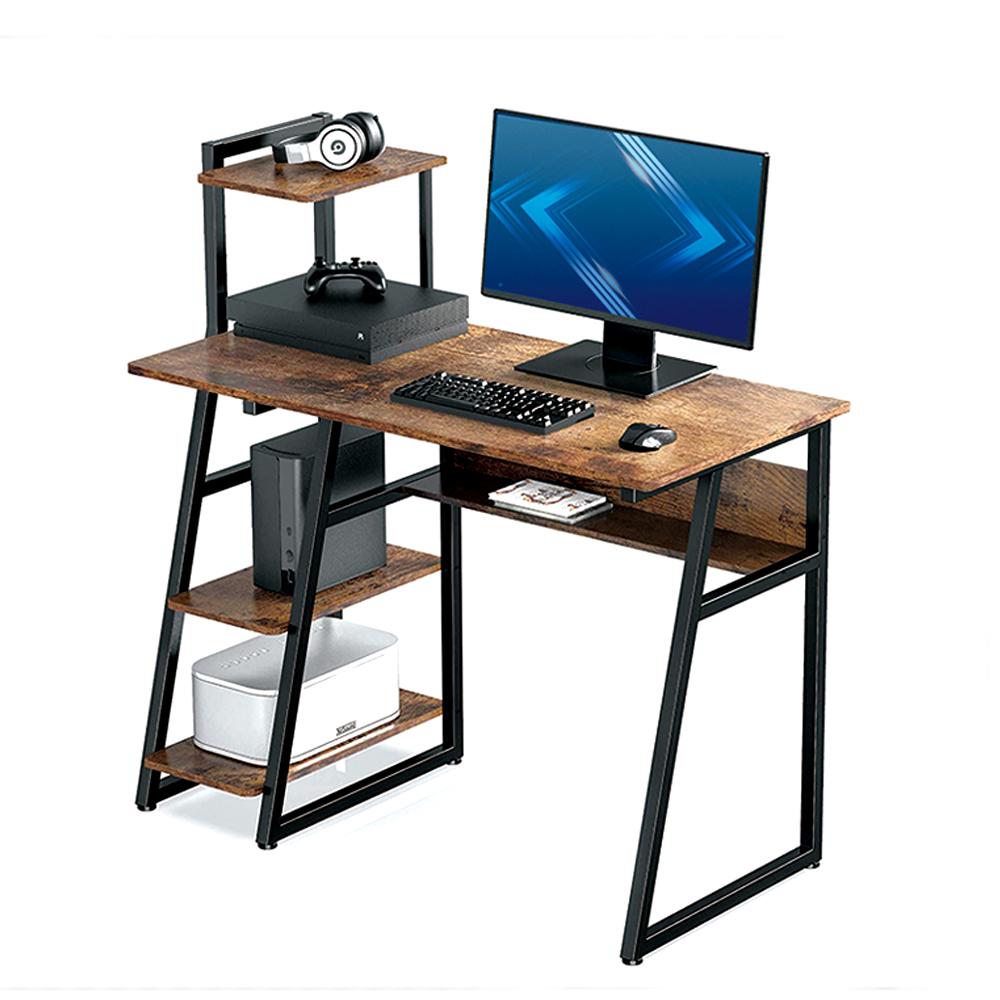 Современная мебель для дома и офиса, угловой компьютерный стол, стол для ноутбука, Современная коммерческая мебель с металлической полкой и книжной полкой