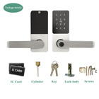 Smart deadbolt lock password key card unlock aluminium alloy material support ANS mortise locks