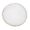 round white crystal coaster