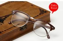 Классические ретро очки с прозрачными линзами для девушек, очки для близорукости, модные брендовые Дизайнерские мужские и женские очки, опт...(Китай)