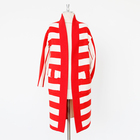 Red and white stripes Fashionable women's wool coat with thread collar Can be customized plus size coats