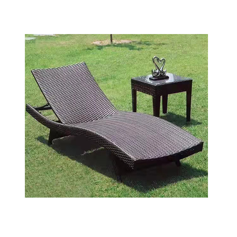 Плетеный уличный шезлонг, шезлонг, ротанговый бассейн, садовый Наклонный шезлонг, шезлонг для продажи
