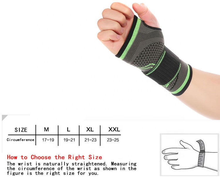 High quality factory price elastic winding compression breathable wrist support/wrist bracer/wrist bandage