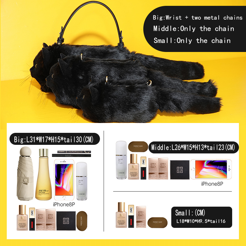 Super hot selling handwork simulation black cat party bag fashion evening creative shoulder purses and handbags for Gift giving