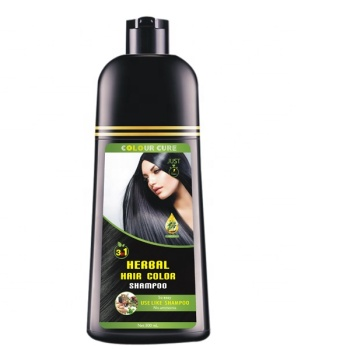 OEM&ODM 100% covering white Black oil hair dye Shampoo argan oil fast dyeing shampoo black hair color shampoo manufacturers