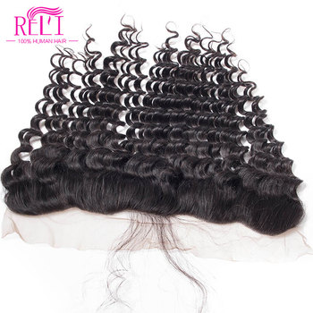 New Arrival Peruvian Lace Frontal 13x4 Deep Wave With Baby Hair Cheap Lace Frontal Human Hair Closure