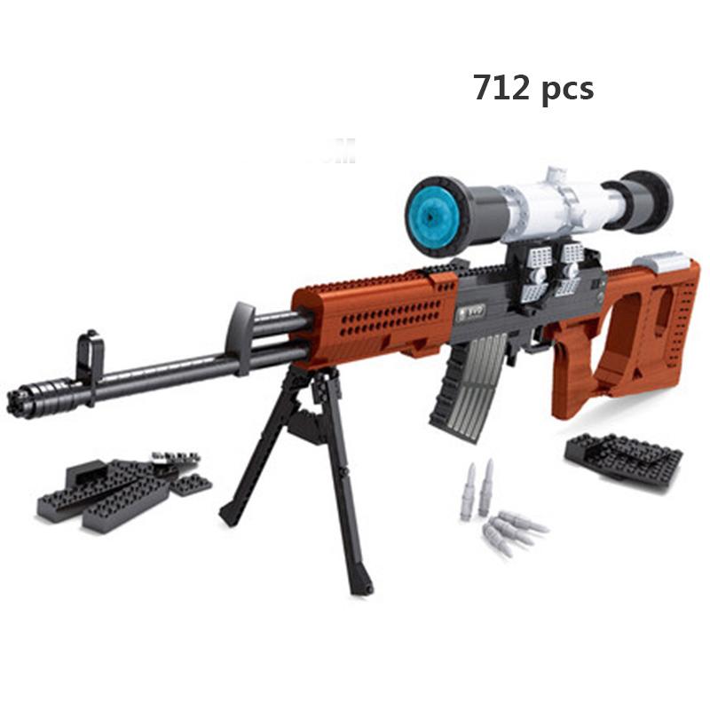 Ausini совместимые Legoing пистолеты Technic пистолет пустынный Орел Submachine 98k модель SWAT WW2 полицейское оружие Moc строительные блоки игрушки(Китай)