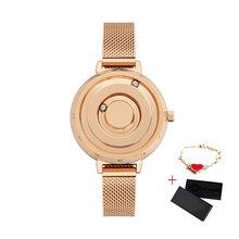 Женские часы с магнитной застежкой EUTOUR, роскошные золотые кварцевые часы из нержавеющей стали с браслетом, женские наручные часы, reloj mujer, 2019(Китай)