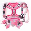 Pink dog harness set