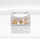 Gold Rings Gold New Fashion Real Gold Wedding Rings 18K With Diamond In Rings