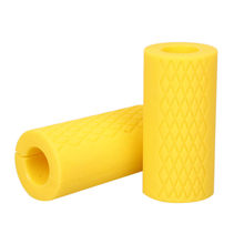 1 пара штанги для гантелей, силиконовая Толстая рукоятка, толстые ручки для тяжелой атлетики, противоскользящая защитная накладка для фитне...(China)