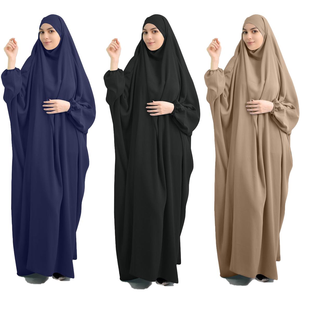 ИД с капюшоном мусульманское женское платье хиджаб молитвенная одежда цзилбаб абайя длинная химар полное покрытие Рамадан платье Abayas исламская одежда Niqab