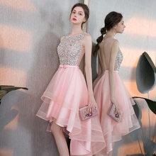 Платья для выпускного вечера It's Yiiya R225, вечерние платья без рукавов с круглым вырезом и высокой низкой длиной, элегантное женское платье Vestido...(Китай)