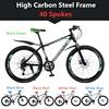 उच्च कार्बन स्टील फ्रेम 40 प्रवक्ता