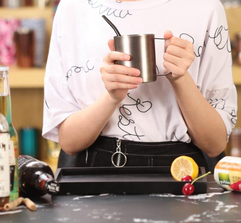Персонализированные логотип нержавеющая сталь Кофе Кружка надежный завод путешествия кружки