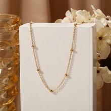Модные бусы, ожерелье для женщин, короткие воротники золотого цвета, ожерелье с подвеской 2020, колье, ювелирные изделия, подарок, вечерние юве...(Китай)